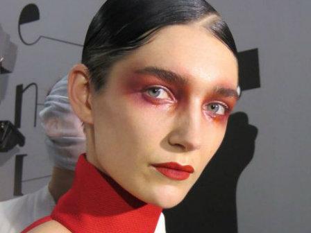 מראה איפור שבוע האופנה מאק פריז