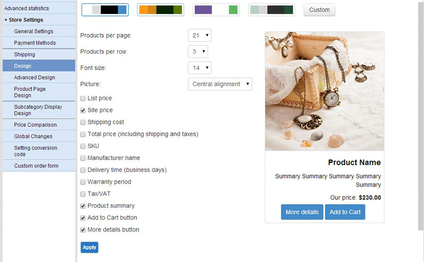 The product box can now be designed by means of the newly introduced graphical tool