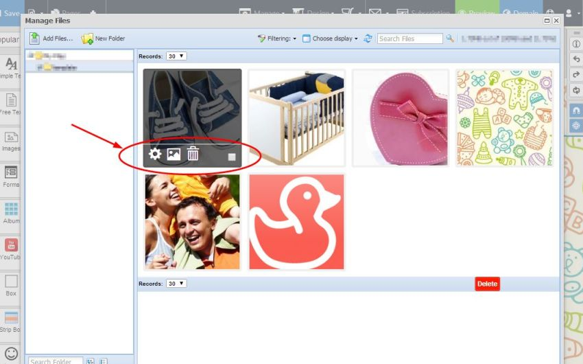 File Manager has been improved with new file management buttons