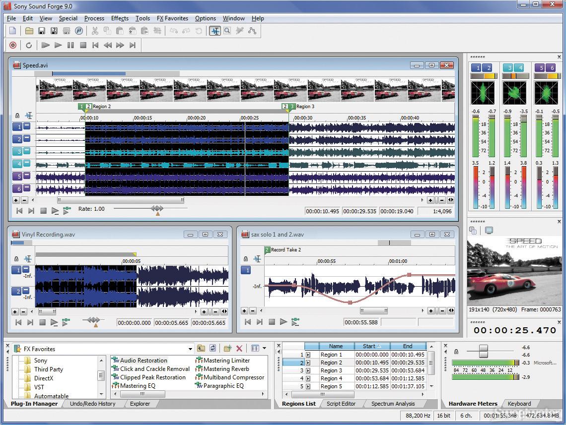 Sony Sound Forge v9.0.