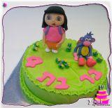 Designed Dora Birthday Cake. עוגת דורה מעוצבת ליום הולדת