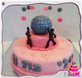 עוגת דיסקו מעוצבת ליום הולדת. Disco Birthday Cake