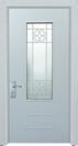 דלת כניסה מעוצבת לבנה