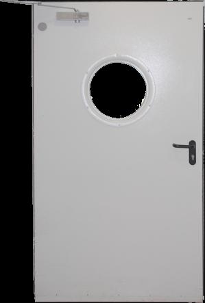 דלת אש עם חלון עגול | עוז דלתות