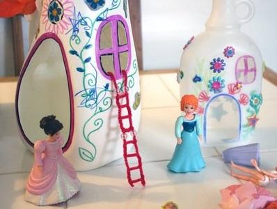 בית נסיכות מבקבוק פלסטיק
