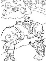 דפי צביעה לילדים דורה