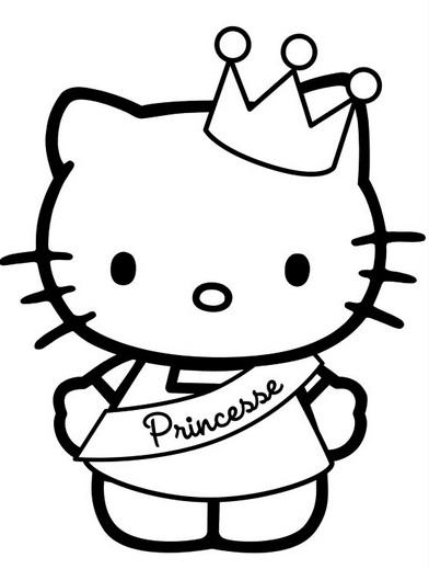 דף צביעה הלו קיטי נסיכה