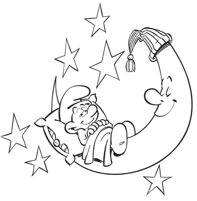 דף צביעה הדרדס ישנוני