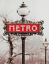 שלט METRO פריז