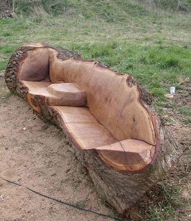 ספסל מעץ אלון