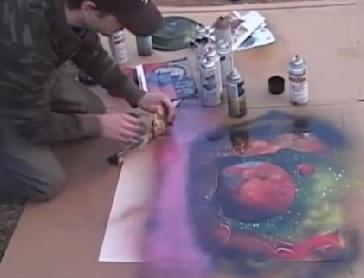 אמנות ציור חלל