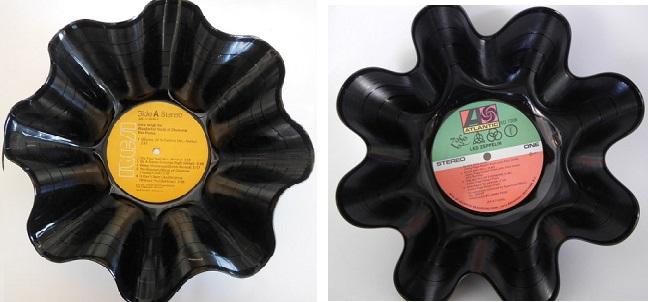 מיחזור תקליטים- קערות ויניל