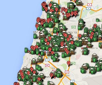 מפת פוקימונים בתל אביב