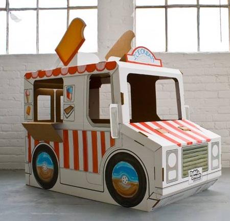 אוטו גלידה מקרטון
