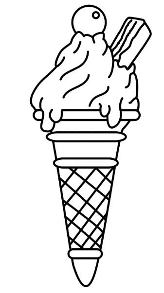 גלידה עם שוקולדה מקופלת