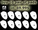 Pinook Replacement pads 10 =$ 69.99