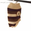 סוודר גולף פסים לכלב -  S בצבעים שונים