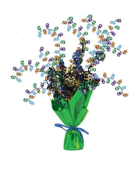 מרכז שולחן זר פרחים - גיל 40