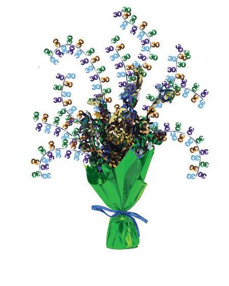 מרכז שולחן זר פרחים - גיל 30