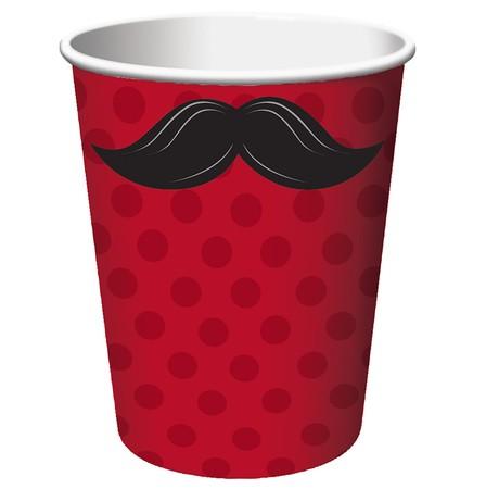 כוסות מסיבת שפמים