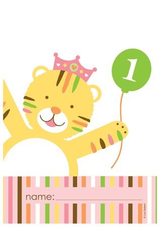 שקיות יום הולדת חגיגה בספארי בנות