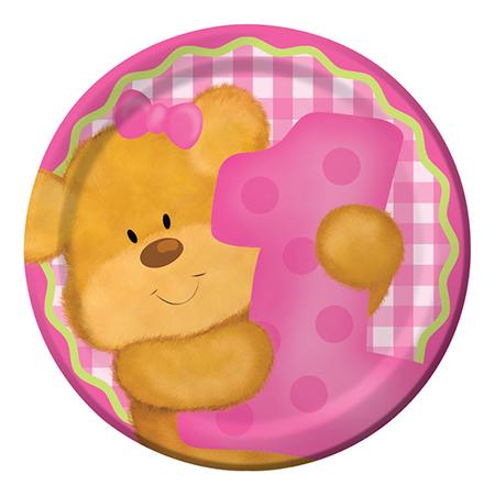 צלחות קטנות הדובי שלי בנות