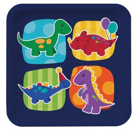 צלחות גדולות דינוזאור קטן