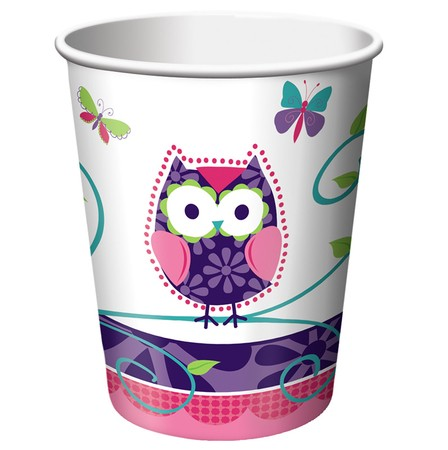 כוסות ינשופים ופרפרים