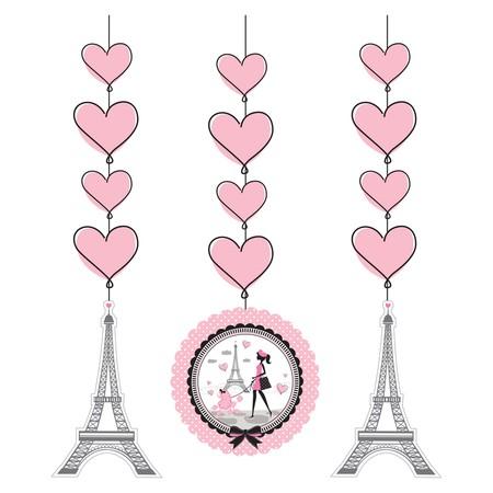 קישוטי תלייה יפה בפריז