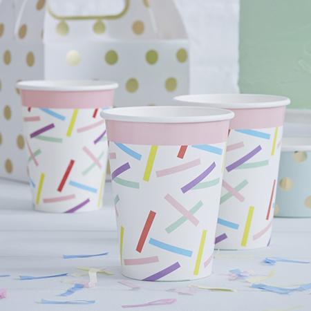כוסות ספרינקלס צבעוניים