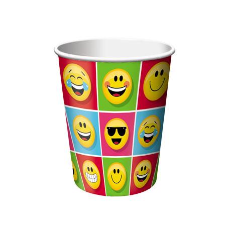 כוסות מסיבת Emoji
