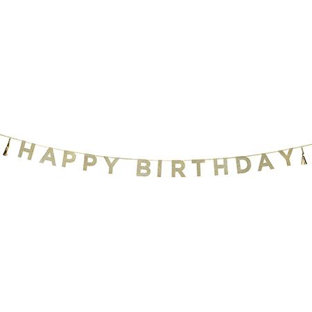 שרשרת גליטר Happy Birthday