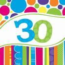מפיות גדולות פסים ונקודות - גיל 30