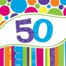 מפיות גדולות פסים ונקודות - גיל 50
