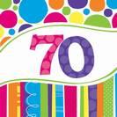 מפיות גדולות פסים ונקודות - גיל 70