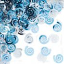 קונפטי ספירלה - כחול פסטל