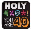 צלחות קטנות Holy Bleep - גיל 40
