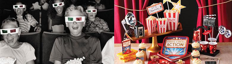 יום הולדת ערב סרט | כלים חד פעמיים ערב סרט