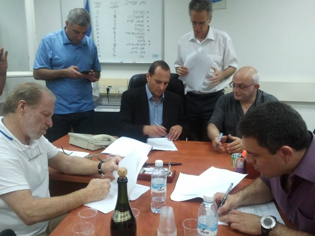 חתימה על ההסכם רשות השידור