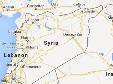 מפת סוריה