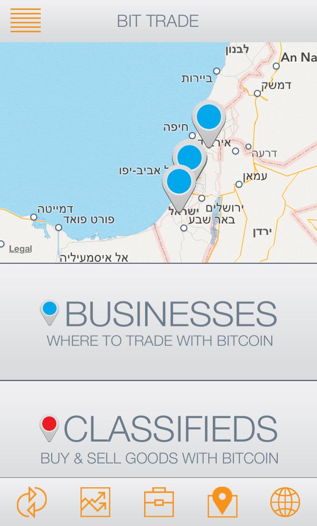 מפת ביטקוין ישראל