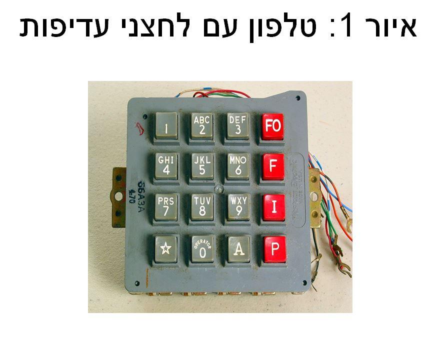 טלפון עם לחצני עדיפות