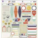 School Memories Cardstock Stickers