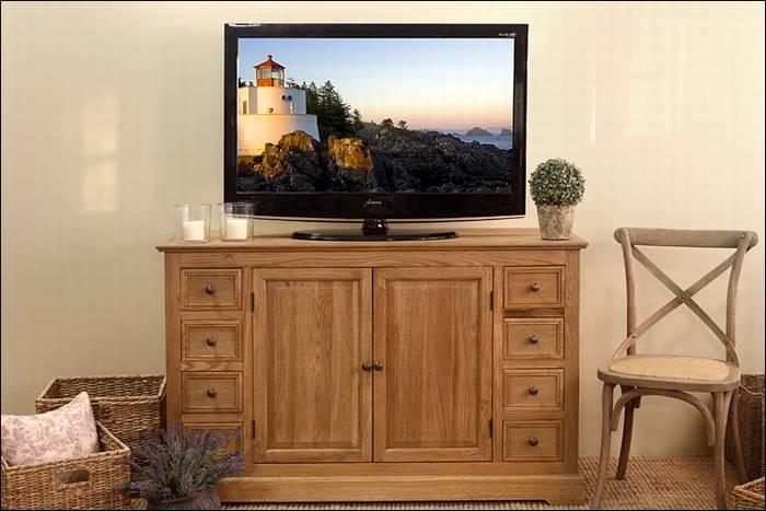 שידת טלוויזיה, סדרת עץ אלון טבעי rmo 338