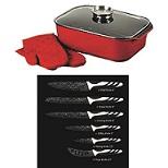 רוסטר מלבני לצלי מושלם+6 סכיני חיתוך מקצועיים