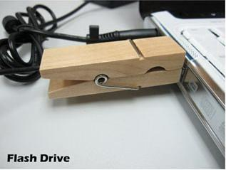 Clothespin flash disk