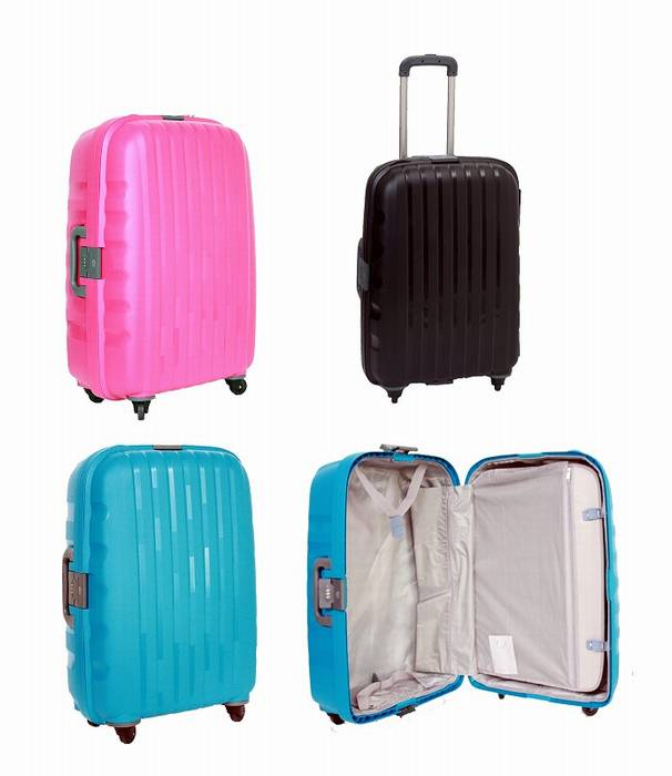 colored suitcases&documents cases