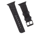 CASE MATE 38 SCALED LEATHER BAND - BLACK