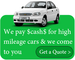 we pay cash for high mileage cars & we come to you