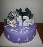 עוגת בת מצווה לילדה שאוהבת מוסיקה